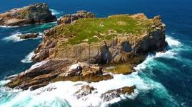 Cape Tourville and The Nuggets seal colony Tasmania.