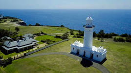 The Macquarie Lighthouse NSW Serenity via Aerial Drone 4k