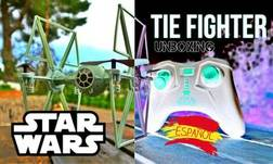 Tie Fighter Star Wars drone Unboxing + Review + Primer Vuelo + Mejoras 3D