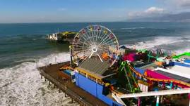 Drone loop of the Santa Monica Pier