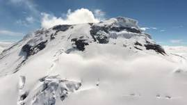 Cotopaxi Volcano from Above/ highest active volcano in the world/ forbiden to climb.