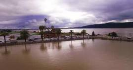 Aerial Video: King Tide After the First Storm of 2017 Benicia, California