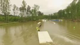 One trick at Jibtopia Wakepark in North Carolina