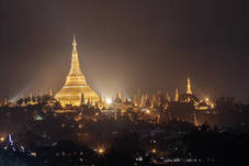 Pagodas, cities and landscape in Myanmar, Burma.