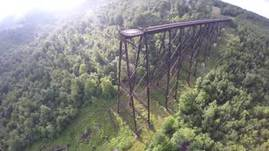 kinzua bridge was struck by tornado in 2003. befor
