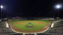 Baseball Stadium at Night