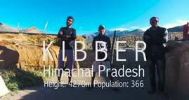 Kibber - Spiti Valley Aerial Video - Himachal Pradesh - India