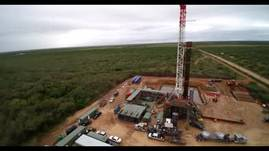 Drone Video of Oil Rig near Dilley, TX