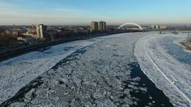Still Frozen. <br />Fly above and below the bridge
