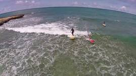 SUP surfing in Hawaii