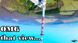 FPV Freestyle betaflight - TV tower DIVE - Beautiful view...