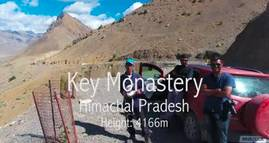 Key Monastery - Spiti Valley Aerial Video - Himachal Pradesh - India