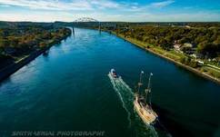Mayflower II through the Cape Cod Canal