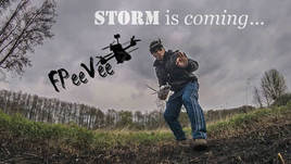 GEP-ZX5 FPV Freestyle in the storm - Freakin strong wind - Betaflight holds the machine ;)