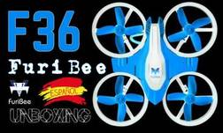 FuriBee F36 Mini Dron [ Unboxing en Español ] Tiny Whoop @ SongoLand