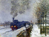 A train in the snow