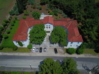 Aerial view of the 120 years old building of histo